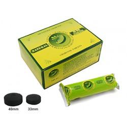 Węgielki 40mm naturalne BOX 100szt