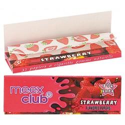 Bibułki Meex aromatyzowane truskawka