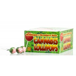 Lizak Cannabis olejek konopny Gum Strawberry