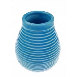 Matero ceramiczne szkliwo 350ml niebieskie