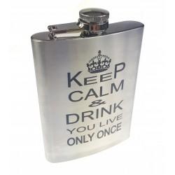 Piersiówka Keep Calm 240ml