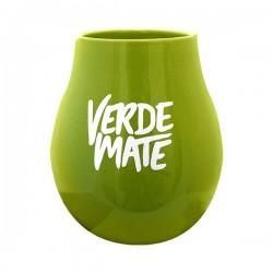 Matero ceramiczne z logo Verde zielone
