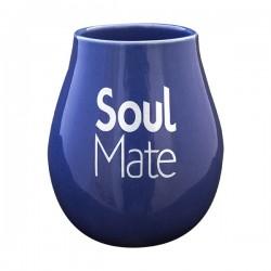 Matero ceramiczne  z logo Soul niebieskie