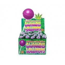 Lizak Cannabis olejek konopny Bubble Purple Haze