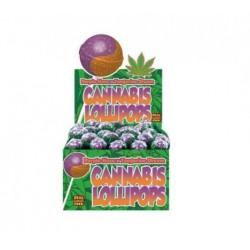 Lizak Cannabis olejek konopny Purple Haze Tangerin