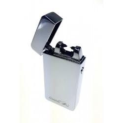 Zapalniczka USB plazmowa podwójny łuk srebrna