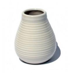 Matero ceramiczne szkliwo 350ml białe