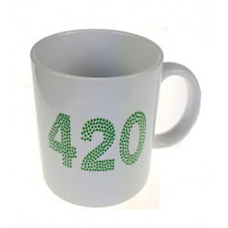 Kubek ceramiczny 330ml z napisem 420