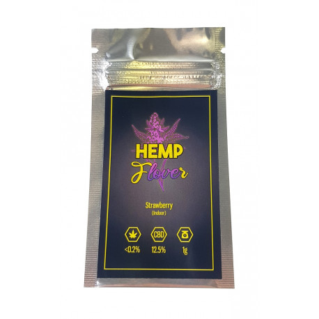 Susz Konopny Hemp FloveR Strawberry 12,5% CBD 1g