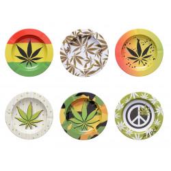 Popielniczka metalowa Cannabis 14cm