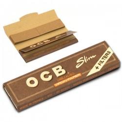 Bibułki OCB Virgin Brown Slim + filtry 32szt