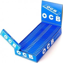 Bibułki OCB niebieskie box 25 sztuk