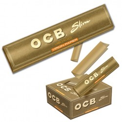 Bibułki OCB Slim Virgin brązowe 32 sztuki