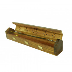 Pudełko z podstawką drewnianą na kadzidełka B15911