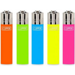Zapalniczka Clipper Solid Fluo Assorted
