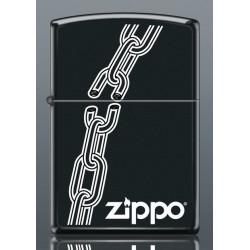 Zapalniczka Zippo benzynowa Black Łańcuch