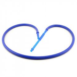 Shisha Fajka Wąż Silikonowy Niebieski 180cm