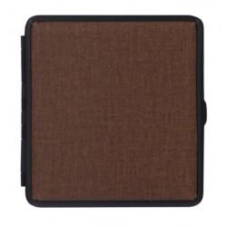 Papierośnica etui metalowo materiałowa brąz 06318