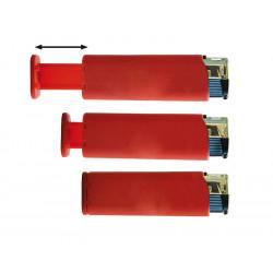 Zapalniczka Piezo z podstawką do telefonu czerwona