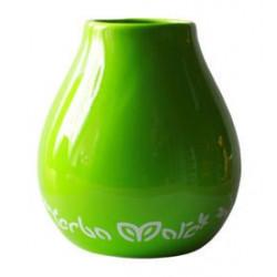 Matero tykwa Luka zielona z logo do Yerba Mate