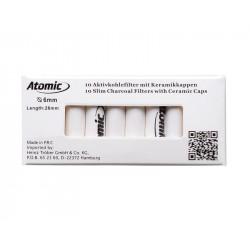 Filtry Węglowe Atomic slim 6mm 10szt 0163500