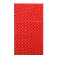Pudełko etui papierośnica metalowa SLIM czerwona