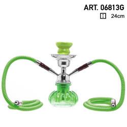 Shisha Fajka Pączek zielony 2 węże 6813G