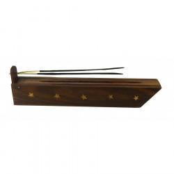 Podstawka drewniana na kadzidełka z pojemnikiem