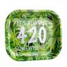 Tacka metalowa do skręcania papierosów 420 Logo