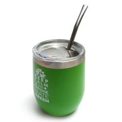 Matero stalowe Moderna zielone 350ml z bombilla