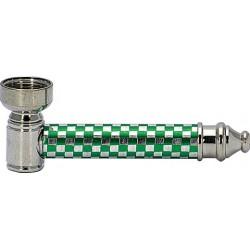 Lufka fifka metalowa z sitkami zielona