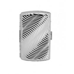 Papierośnica metalowa mała srebrna