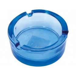 Popielniczka szklana 8,5cm niebieska
