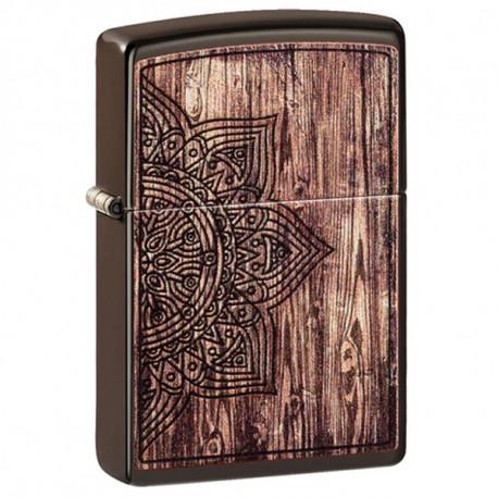 Zippo Wood Mandala Design