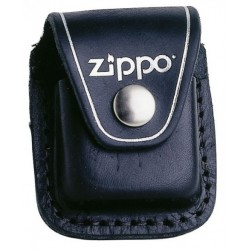 Zippo etui skórzane z klipem czarne